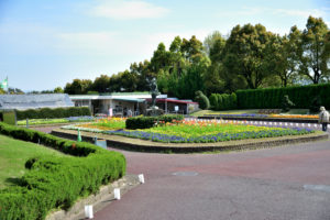 植物園 大花壇 女神像