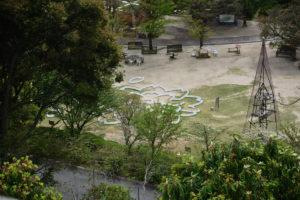植物園 広場 ぼんぼり 桜迷路