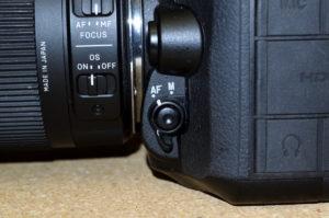 D7100 AF切り替えスイッチ