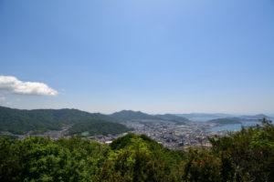 日浦山 頂上 海田・矢野方面