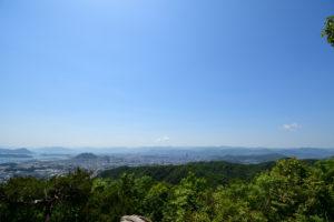 日浦山 頂上 広島市内方面