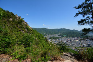 日浦山 地獄岩 横から