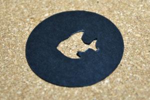 魚形 切り抜き